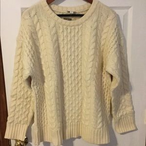 J. Jill wool fisherman knit sweater